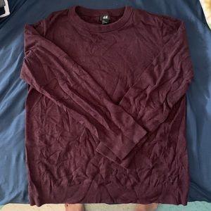 HM Maroon Casual Sweater
